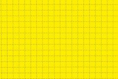 Gelbes Plastikbrett mit punktierter Linie mögen als Zeichenpapier mit Maßeinteilung Stockfotos