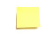 Gelbes Post-It getrennt Stockbild