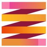 Gelbes rosa Band Infographics Lizenzfreie Stockfotografie