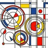 Gelbes rotes blaues abstraktes Muster lizenzfreie abbildung