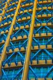 Gelbes, rotes, blaues Gebäude Lizenzfreie Stockfotografie