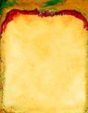 Gelbes rotes Briefpapier Stockbilder