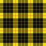 Gelbes schwarzes Muster des Schottenstoffs Textil lizenzfreie abbildung