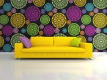 Gelbes Sofa Lizenzfreie Stockbilder