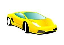 Gelbes Sport-Auto Stockfotos