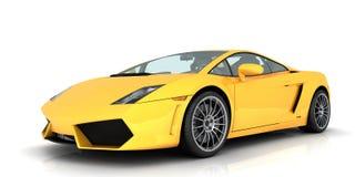 Gelbes sportscar Stockfotografie