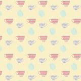 Gelbes Tee-Zeithintergrundmuster Stockbilder