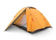 Gelbes touristisches Zelt Stockfotos