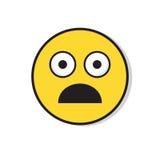 Gelbes trauriges Gesicht entsetzte negative Leute-Gefühl-Ikone Lizenzfreie Stockfotografie