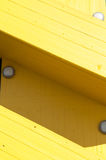 Gelbes Treppenhaus Stockfotografie