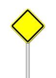 Gelbes unbelegtes Zeichen auf Weiß Lizenzfreie Stockfotos