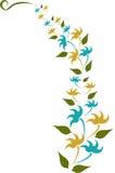 Gelbes und blaues Blume desgin Lizenzfreie Stockbilder