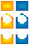 Gelbes und blaues Zeichen geöffnet und geschlossen Lizenzfreies Stockbild