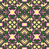 Gelbes und grünes nahtloses Muster Stockbilder