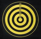 Gelbes und schwarzes Ziel Stockfoto