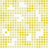 Gelbes und weißes Polka-Dot Mosaic Abstract Design Tile-Muster R Lizenzfreie Stockfotografie