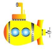 Gelbes Unterseeboot lizenzfreie abbildung
