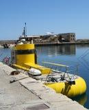 Gelbes Unterseeboot Stockfotografie