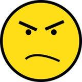 Gelbes verärgertes Gesicht Lizenzfreie Stockfotos
