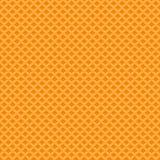 Gelbes Waffelbeschaffenheitsmuster Nahtloser Hintergrund Vektor Stockfotografie