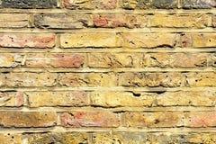 Gelbes Wanddetail stockbild