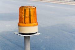 Gelbes Warnlicht LED Stockbilder