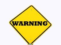 Gelbes Warnzeichen getrennt Lizenzfreies Stockbild
