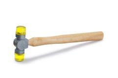 Gelbes weiches Plastikgesicht Mallet Hammer Stockbilder