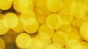 Gelbes Weihnachten-bokeh Auszug unscharfer Hintergrund stock video footage