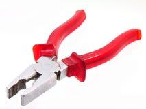 Gelbes Werkzeug der Zangen lokalisiert Lizenzfreies Stockbild