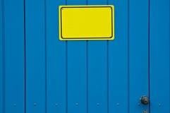 Gelbes Zeichen Stockbild