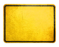 Gelbes Zeichen Lizenzfreies Stockfoto