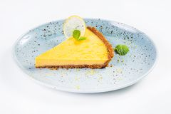 Gelbes Zitronentörtchen Lizenzfreies Stockbild