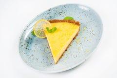 Gelbes Zitronentörtchen Stockfoto