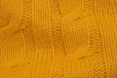 Gelbes Zopfmustermuster Lizenzfreie Stockbilder