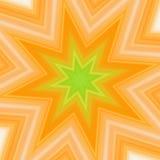 Gelbgrüner Spritzenstern vektor abbildung