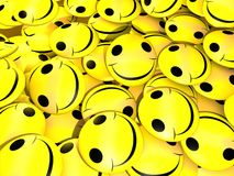 Gelblächeln Stockfoto