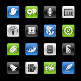 gelbox媒体系列社交 库存例证