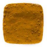 Gelbwurz auf weißem Hintergrund Lizenzfreies Stockfoto