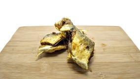 Gelbwurz gebratene Fische Lizenzfreies Stockfoto