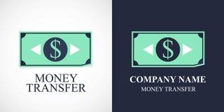 Geldüberweisungsvektorikone, Logo Lizenzfreies Stockfoto