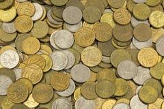 Geld, Änderung, Penny, Stapel von Cents Lizenzfreies Stockfoto