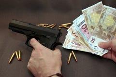 Geld 10 van de drug Stock Fotografie