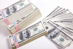 Geld, 100 Dollar stockfoto