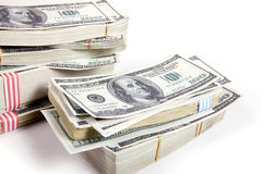 Geld, 100 Dollars Royalty-vrije Stock Afbeeldingen