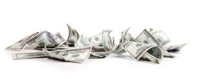 Geld, 100 Dollars Stock Afbeeldingen