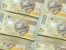 Geld 200 PLN stock fotografie