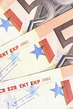 Geld - 50 Euroanmerkungs-Detail Lizenzfreie Stockbilder