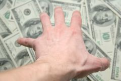 Geld. Alle mijn! Royalty-vrije Stock Fotografie
