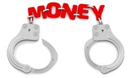 Geld als beperker van vrijheid Royalty-vrije Stock Foto